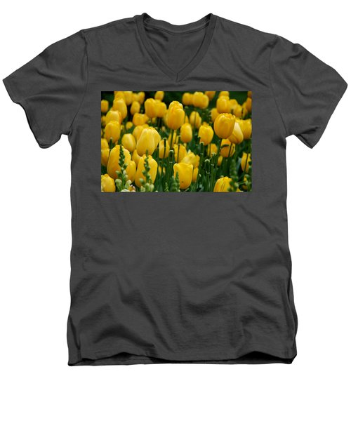 Yellow Tulip Sea Men's V-Neck T-Shirt