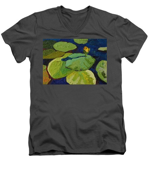 Yellow Waterlily Men's V-Neck T-Shirt
