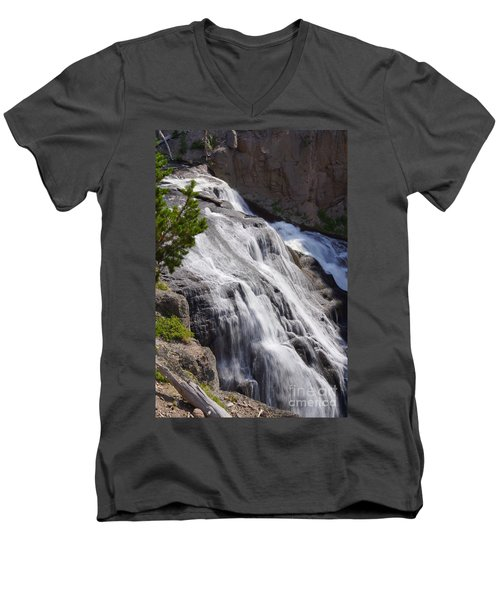 Yellowstone Gibbon Falls Men's V-Neck T-Shirt