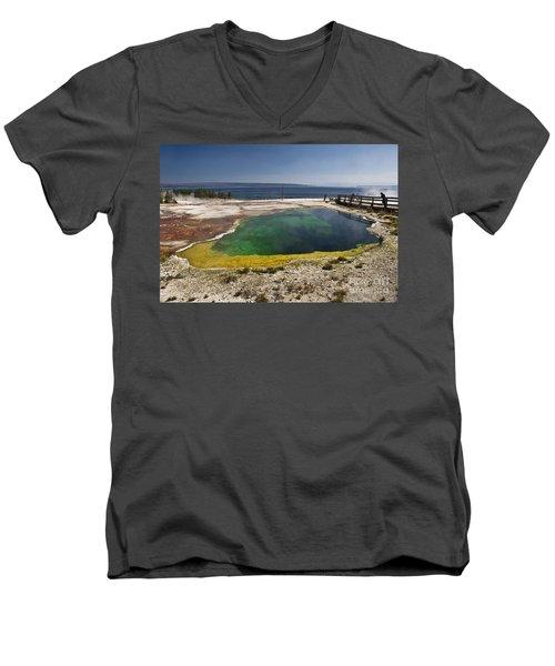 Yellowstone Lake Men's V-Neck T-Shirt