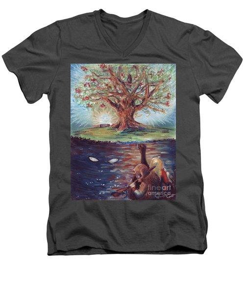 Yggdrasil - The Last Refuge Men's V-Neck T-Shirt