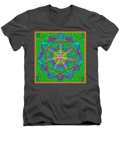 Yhwh 3 5 2015 Men's V-Neck T-Shirt by Hidden  Mountain