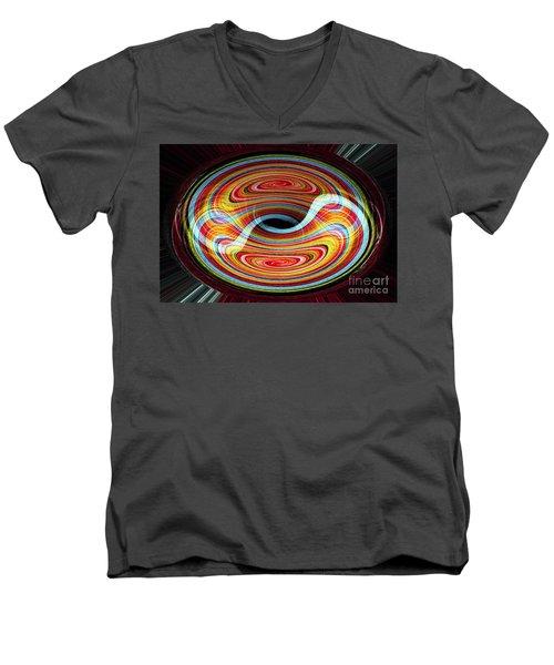Yin And Yang - Abstract Men's V-Neck T-Shirt
