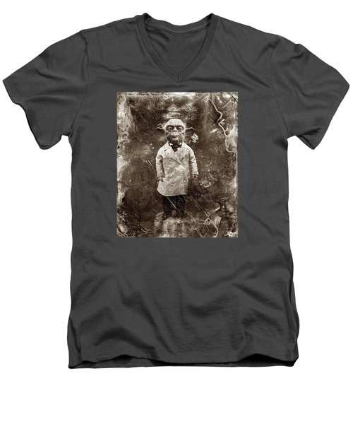 Yoda Star Wars Antique Photo Men's V-Neck T-Shirt by Tony Rubino