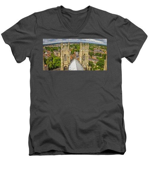 York From York Minster Tower Men's V-Neck T-Shirt