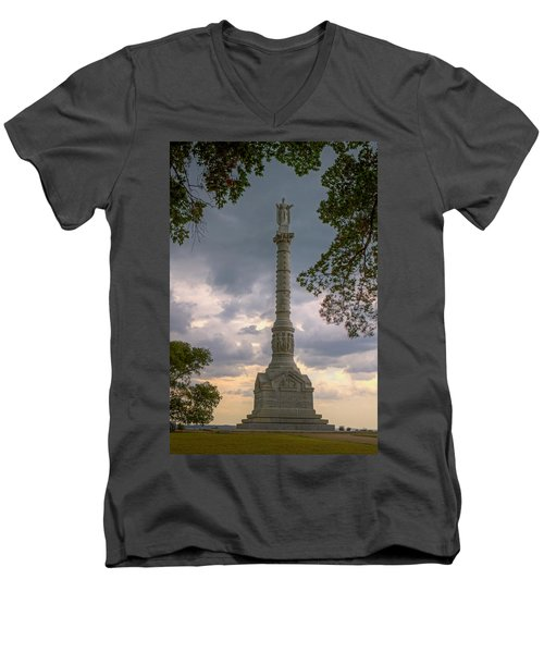 Yorktown Victory Monument Men's V-Neck T-Shirt by Jerry Gammon