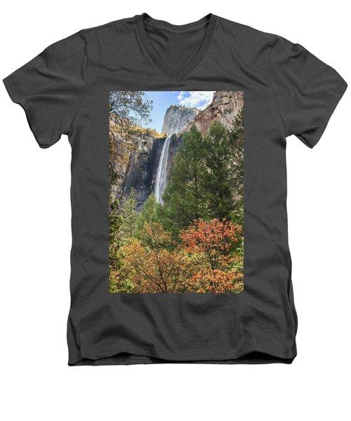 Yosemite Men's V-Neck T-Shirt by Muhie Kanawati