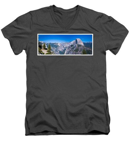 Yosemite Valley From Glacier Point Men's V-Neck T-Shirt