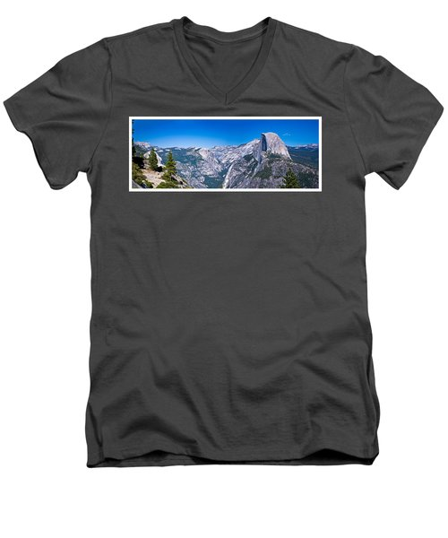 Yosemite Valley From Glacier Point Men's V-Neck T-Shirt
