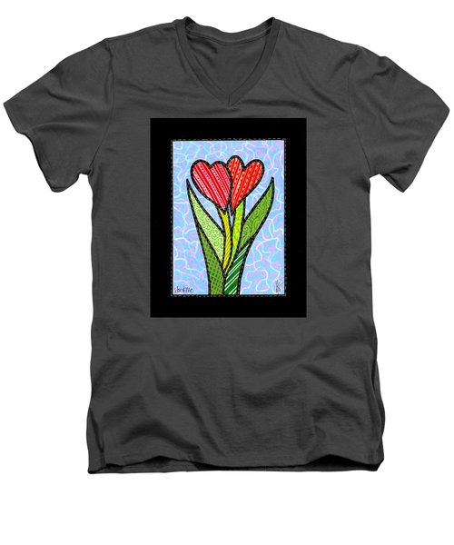 You And Me Men's V-Neck T-Shirt by Jim Harris