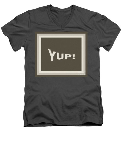 Yup Greyscale Men's V-Neck T-Shirt