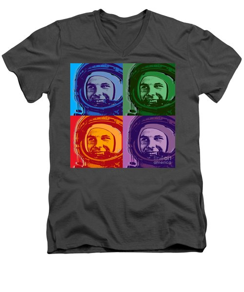 Yuri Gagarin  Men's V-Neck T-Shirt