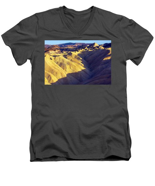 Men's V-Neck T-Shirt featuring the photograph Zabriski Point #2 by Stuart Litoff