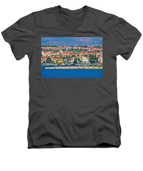 Zadar Waterfront Sea Organs View Men's V-Neck T-Shirt by Brch Photography