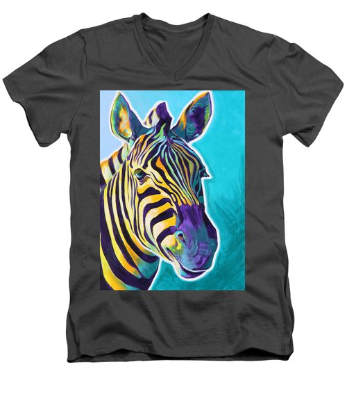 Zebra - Sunrise Men's V-Neck T-Shirt
