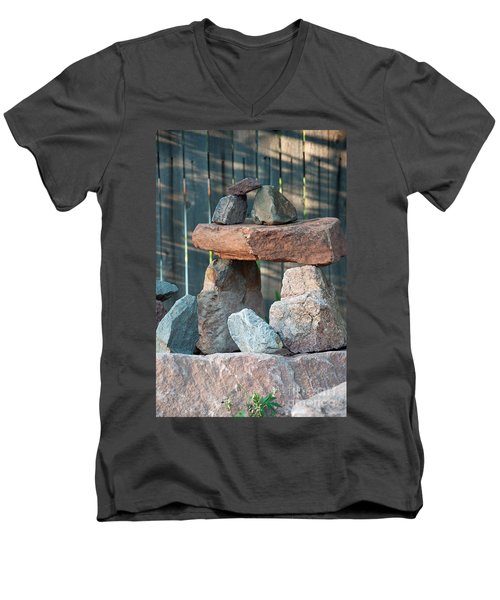 Men's V-Neck T-Shirt featuring the photograph Zen Do by Minnie Lippiatt