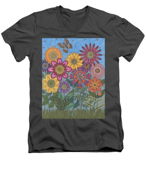 Zen Garden Men's V-Neck T-Shirt