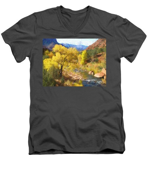 Zion National Park Men's V-Neck T-Shirt
