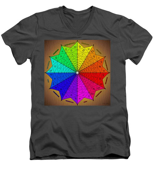 Zodiac Color Star Men's V-Neck T-Shirt
