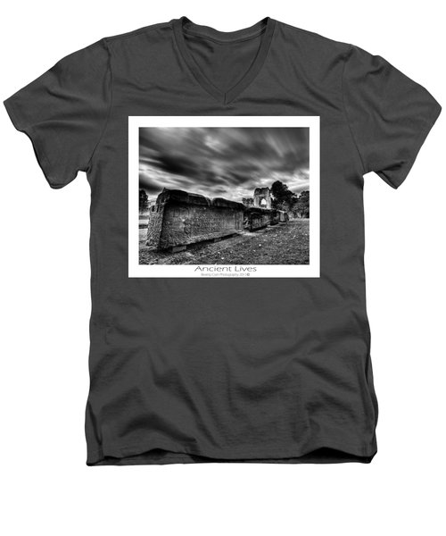 Men's V-Neck T-Shirt featuring the photograph  Ancient Lives by Beverly Cash