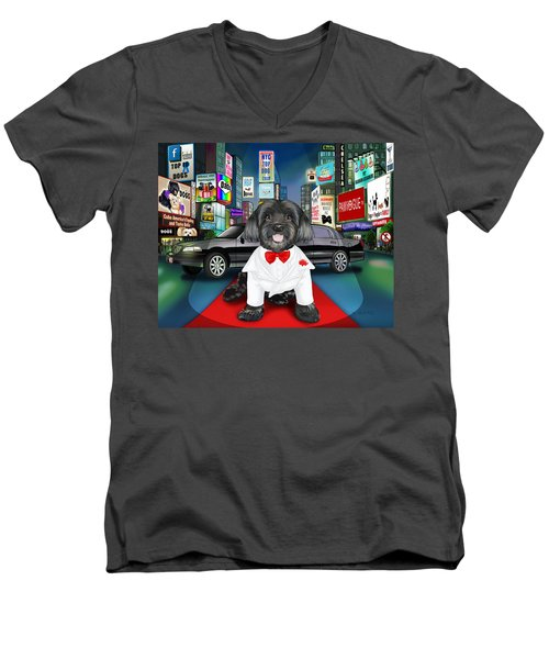 Sir Cuba Of Chelsea In Times Square Nyc Men's V-Neck T-Shirt