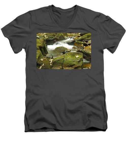 Water Flow At Torc  Men's V-Neck T-Shirt by Martina Fagan
