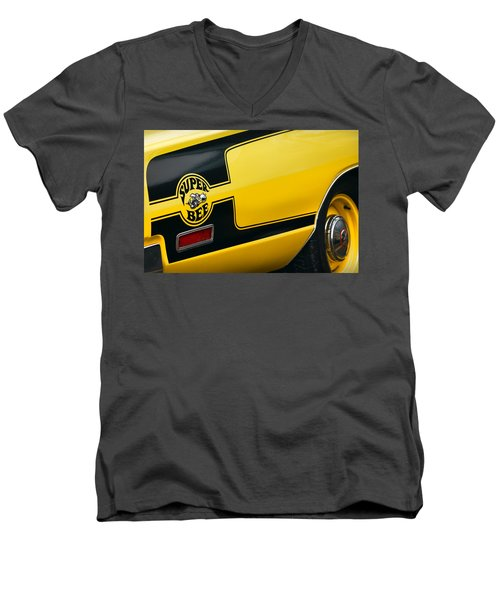 Men's V-Neck T-Shirt featuring the photograph 1970 Dodge Coronet Super Bee by Gordon Dean II