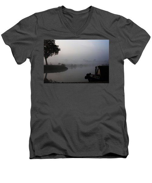 A Nice Place Men's V-Neck T-Shirt by Linsey Williams