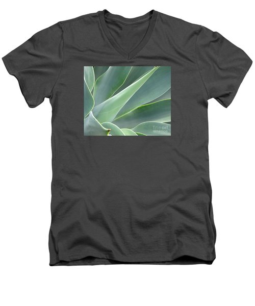 Men's V-Neck T-Shirt featuring the photograph Agave by Ranjini Kandasamy