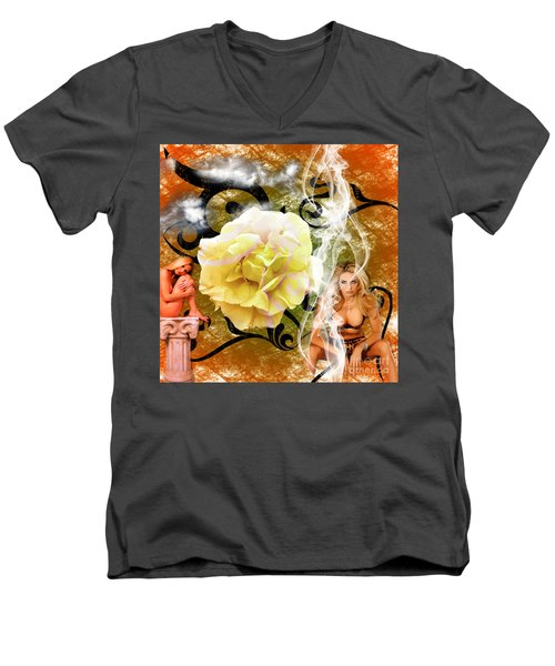 Men's V-Neck T-Shirt featuring the photograph Beauty by Clayton Bruster