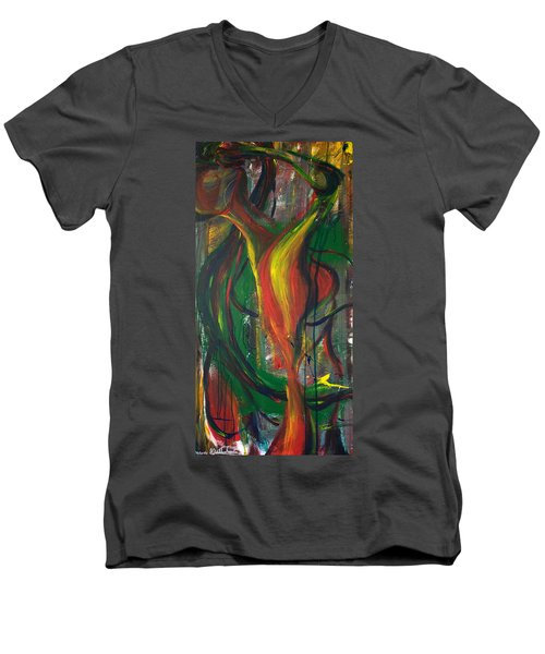 Butterfly Caught Men's V-Neck T-Shirt by Sheridan Furrer