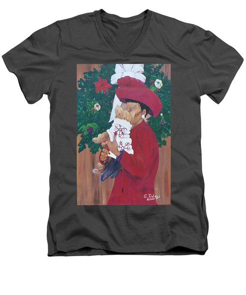 Christmas Lioness Men's V-Neck T-Shirt