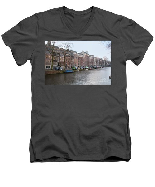 City Scenes From Amsterdam Men's V-Neck T-Shirt by Carol Ailles