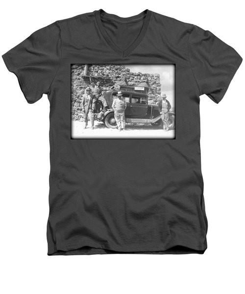 Men's V-Neck T-Shirt featuring the photograph Depression Travlers by Bonfire Photography