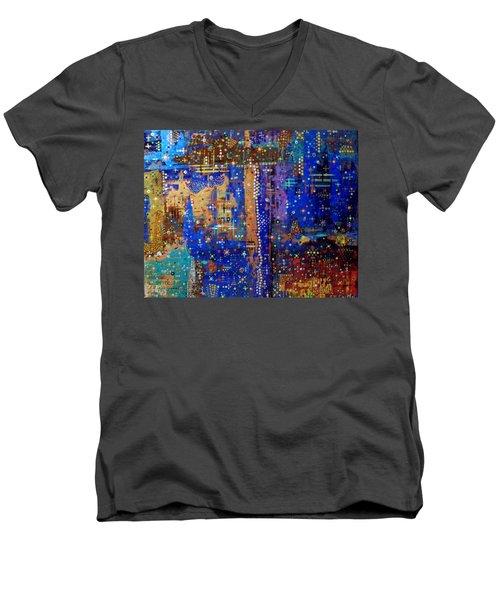 Design For Meditation Men's V-Neck T-Shirt