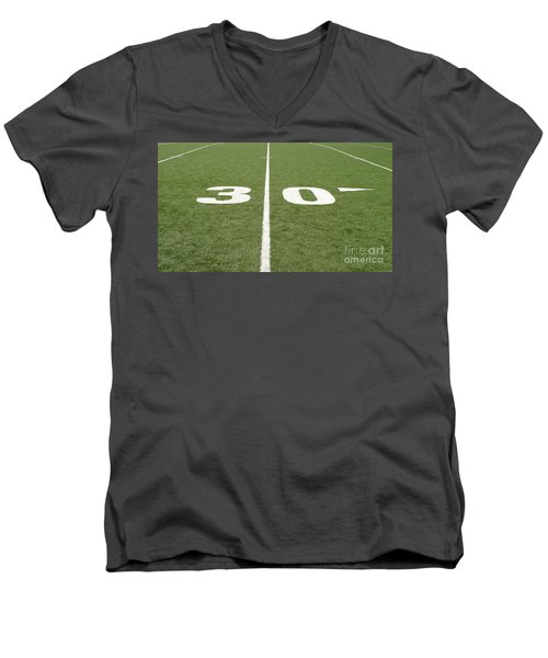 Men's V-Neck T-Shirt featuring the photograph Football Field Thirty by Henrik Lehnerer