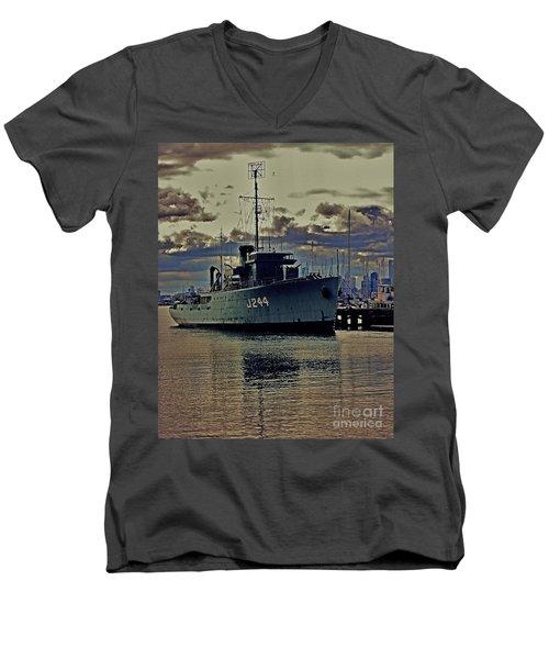Men's V-Neck T-Shirt featuring the photograph Hmas Castlemaine 3 by Blair Stuart