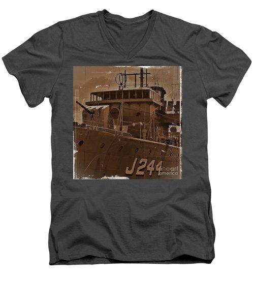 Men's V-Neck T-Shirt featuring the photograph Hmas Castlemaine 4 by Blair Stuart