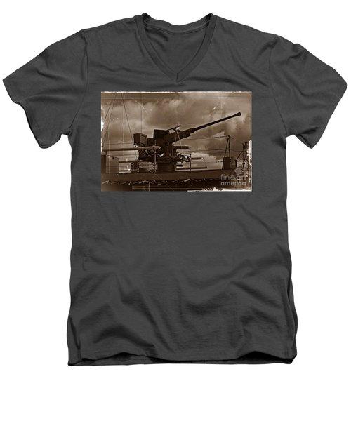 Men's V-Neck T-Shirt featuring the photograph Hmas Castlemaine 5 by Blair Stuart