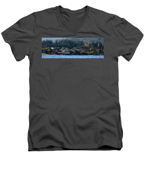 Men's V-Neck T-Shirt featuring the photograph Home Sweet Kaslo by Cathie Douglas
