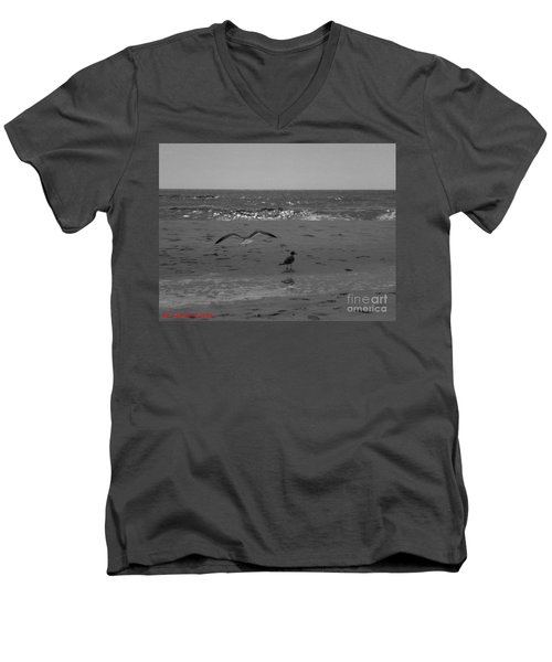 Navarre Beach Men's V-Neck T-Shirt by Janice Spivey