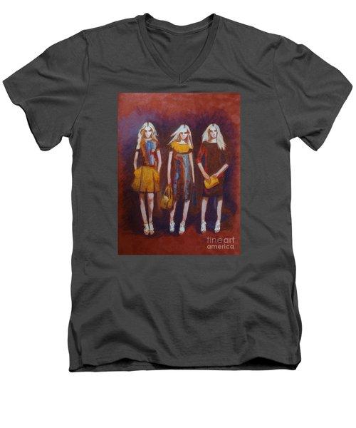 On The Catwalk Men's V-Neck T-Shirt