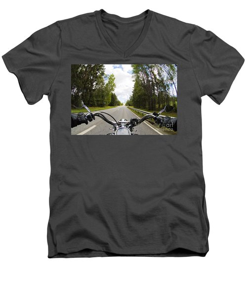 On The Road Men's V-Neck T-Shirt by Micah May