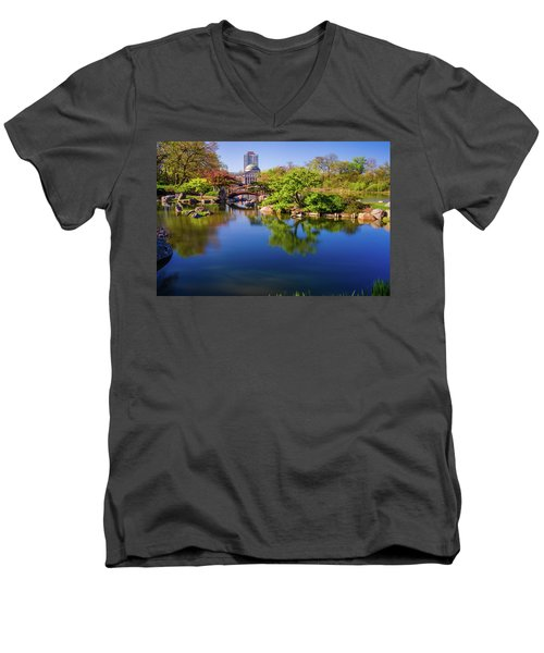 Osaka Japanese Garden Men's V-Neck T-Shirt