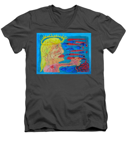Past Their Mask - Hate Evil  Men's V-Neck T-Shirt
