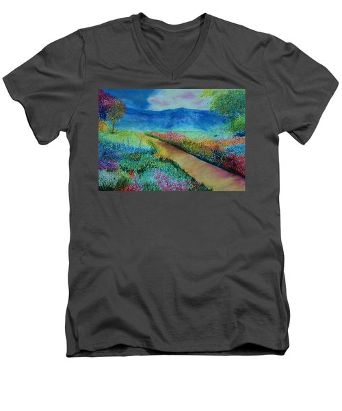 Patricia's Pathway Men's V-Neck T-Shirt