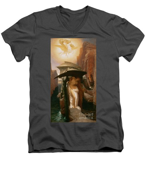 Perseus And Andromeda Men's V-Neck T-Shirt by Frederic Leighton