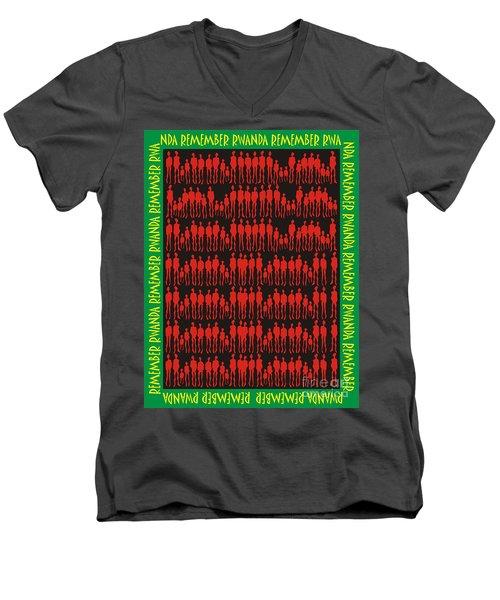 Remember Rwanda Men's V-Neck T-Shirt
