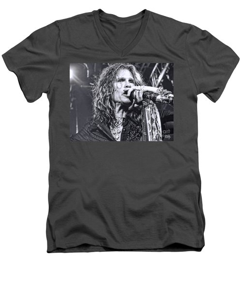 Men's V-Neck T-Shirt featuring the photograph Steven Sings by Traci Cottingham