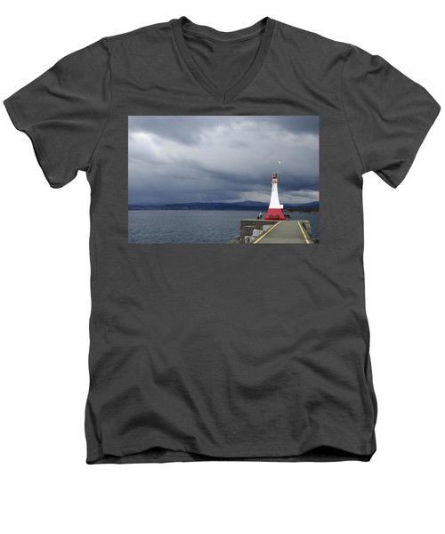 Men's V-Neck T-Shirt featuring the photograph Stormwatch by Marilyn Wilson